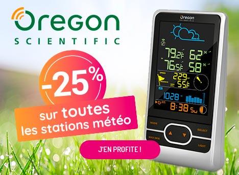 -25% sur les stations météo